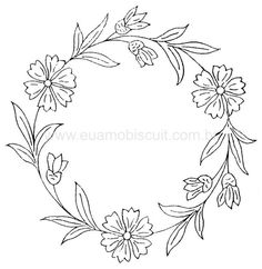 Free advanced coloring pages, Adult Coloring pictures Hand Embroidery Patterns Free, Embroidery Stitches Tutorial, Embroidery Flowers Pattern, Simple Embroidery, Embroidery Hoop Art, Machine Embroidery Designs, Diy Bordados, Wreath Drawing, Coloring Pages