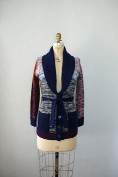 1970s Bohemian Knit Cardigan Sweater - 70s Boho Sweater. $38.00, via Etsy.
