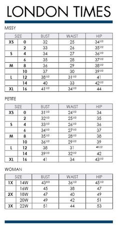Alfani Woman Regular And Plus Size Charts Via Macys