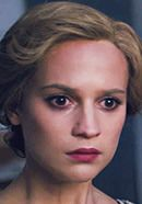 Alicia Vikander as Gerda Wegener, wife of transgender artist Lili Elbe, portrayed by Eddie Redmayne in The Danish Girl. Read 'The Danish Girl: History vs. Hollywood' - http://www.historyvshollywood.com/reelfaces/danish-girl/
