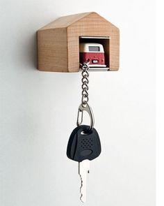 Schlüsselanhänger mit Garage