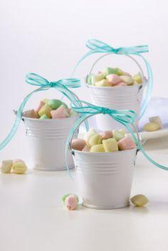 Michaels.com Wedding Department: Mini White Pail Favor Kit These miniature pails are great for sweet baby shower favors. 18pcs per pack. Ribbon