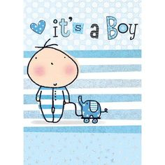 Greeting Card 'It's a Boy' www.lambertpaint.com