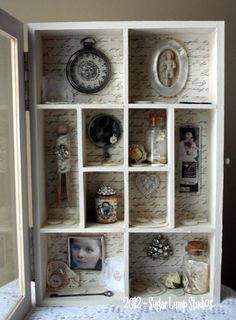shabby heart altered cabinet - sugarlumpstudios - very pretty!