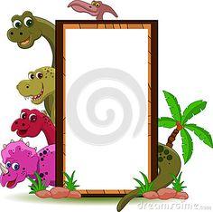 Dinossauro com sinal vazio