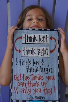 oh the thinks you can think dr seuss wood sign. $26.95, via Etsy.