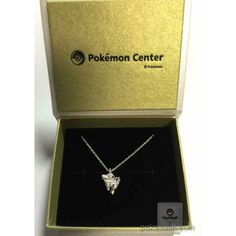 Pokemon Center 2015 Sylveon Ribbon Pendant Necklace With Pink Sapphire Stone