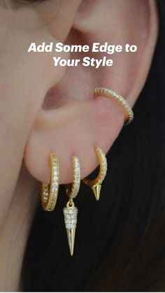 Ear Jewelry, Cute Jewelry, Unique Jewelry, Gifts For Wife, Gifts For Her, Affordable Jewelry, Ear Piercings, Diamond Earrings, Fashion Jewelry
