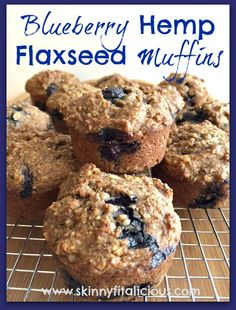 Blueberry Hemp Flaxseed Muffins With Fresh Blueberries Bananas Pure Maple Syrup Coconut Oil Egg Whites Almond Extract Cinnamon Salt Baking Soda Rolled Oats Almond Meal Spelt Flour Brown Flaxseed Hemp Seeds Oat Muffins, Flaxseed Muffins, Blue Berry Muffins, Hemp Seed Recipes, Almond Recipes, Healthy Gingerbread Cookies, Hemp Recipe, Best Nutrition Food, Brunch