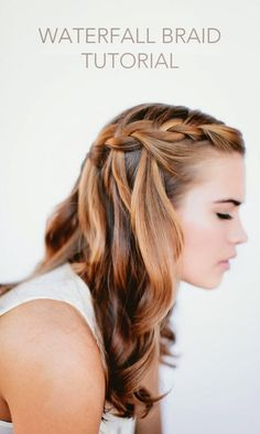How to do a waterfall braid hairstyle: