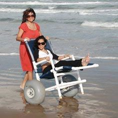 All Terrain Beach Lounger Seat Height Pvc Chair, Pvc Furniture, Beach Cart, Wheelchair Accessories, Pvc Pipe Projects, Mobility Aids, Cerebral Palsy, Special Needs, Medical