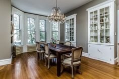These built in cabinets make this Flemington, NJ dining room decorative and functional!
