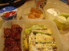 Meatballs, zucchini, cucumbers with ranch, yogurt | Grace2882