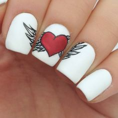 valentine by ane_li #nail #nails #nailart