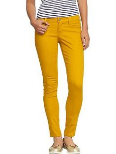 Women's The Rockstar Super Skinny Jeans in Honeycomb | Old Navy  I have these in purple and I love them. They are only $20