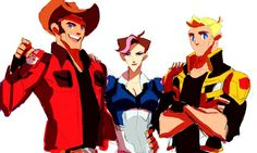 TFP : Trio by Blink2 on DeviantArt (Humanized!Cliffjumper, Arcee, and Bumblebee)