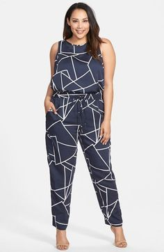 Plus Size Straight Leg Jumpsuit #plussize fashion