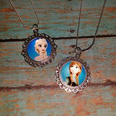Frozen  Elsa and Anna 2 Necklace set ONLY 1 set by IMakeScrap
