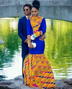 Couple's outfit/ ankara women dress/prom couple clothing/african print dress/african men's c African Men Fashion, African Fashion Dresses, African Women, Ghana Fashion, African Outfits, Ankara Fashion, Women's Fashion, Africa Fashion, Fashion Outfits