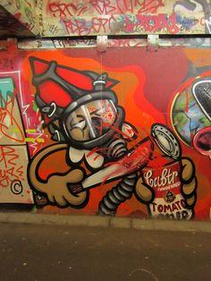 """Street art   Mural """"Soup KBTR"""" (Westplein, Utrecht, Netherlands) by KBTR"""