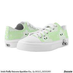 Irish Fluffy Unicorn Sparkles Custom Printed Shoes