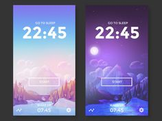 two low poly backgrounds - Day and Night - client work for www.enoughsleepapp.com beta test sign up available higher resolution attached.