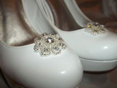 Bridal Shoe Clips  set of 2  Rhinestone Studded by ShoeClipsOnly, $18.00