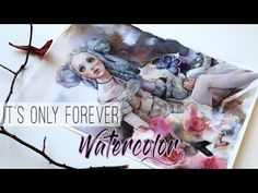 """This is my newest watercolor painting titled """"It's only forever"""" and I talk about doll artists, inspiration, artist block and that I remembered. Watercolor Video, Pen And Watercolor, Watercolour Tutorials, Watercolor Pencils, Watercolor Techniques, Watercolor Portraits, Watercolor Paintings, Pen And Wash, Paint Brushes"""