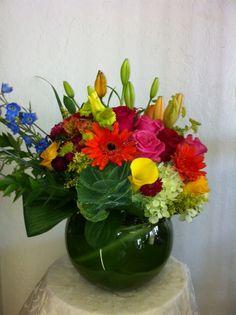 Bubble Vase Arrangement by Robyn
