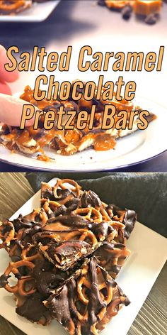SALTED CARAMEL CHOCOLATE PRETZEL BARS Salty pretzels, creamy caramel, semi sweet chocolate and a sprinkling of sea salt, that's right, only four ingredients and this sweet and salty treats can be yours to enjoy! Salted Caramel Chocolate, Chocolate Caramels, Pretzel Carmel Chocolate, Caramel Pretzel Brownies, Pretzel Bark, Caramel Treats, Caramel Corn, Dessert Chocolate, Salted Caramels