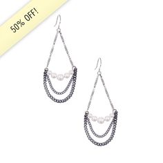 Pearl + Chain Trapeze Earrings  https://www.chloeandisabel.com/boutique/christinecharland
