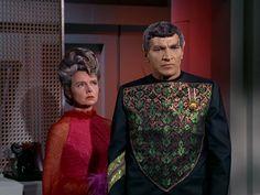 Jane Wyatt as Amanda and Mark Lenard as Sarek Spock's parents in the STAR TREK episode 'Journey to Babel' Season 2 episode 10 originally broadcast...