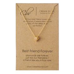 Best Friend Necklace- Gold Silver Diamond Necklace Celebrate Friendship Gift Ideas For BFF Hidden Gem Forever Friends Christmas Gift for BFF