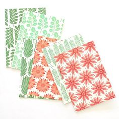 Red & Green cards. All designs are copyright of Kiran Ravilious.