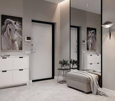 Bedroom Cupboard Designs, Bedroom Closet Design, Home Room Design, Home Decor Bedroom, Home Interior Design, House Design, Entrance Hall Decor, Hall And Living Room, Flur Design
