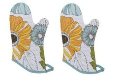 Amazon.com: Now Designs Basic Oven Mitts, Carmen, Set of 2: Kitchen & Dining