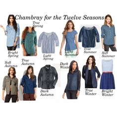 Chambray for the Twelve Seasons by heather-lv on Polyvore featuring Influence, J.Crew, Madewell, Style & Co., Kensie, Forever 21, Gap, Arizona, Oasis and Aqua