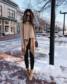 "6,662 Likes, 108 Comments - lauren kay (@laurenkaysims) on Instagram: ""neutral layers for church and brunch on this beautiful sunday!  striped tee is under $20  