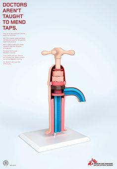 Medecins Sans Frontieres: Tap #ad #print