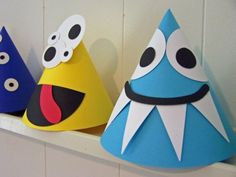 Adorable Monster Party Hats by PrettyPaperFactory on Etsy