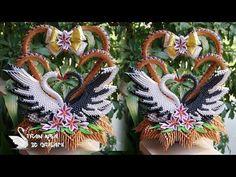 How To Make 3D Origami Love Swans | cómo hacer el cisne de la boda de origami 3D - YouTube