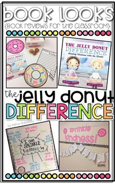 {Book Looks}: The Jelly Donut Difference Buchbesprechung - Lehren mit Buntstiften und . Teaching Kindness, Kindness Activities, Book Activities, Friendship Activities, Kindness Elves, Kindness Ideas, Listening Activities, Classroom Behavior, Future Classroom