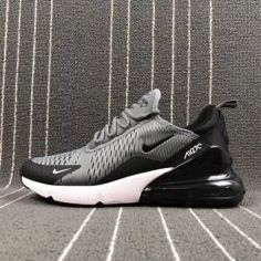sale retailer 350cb 1c2c5 Latest style Nike Air Max 270 Flyknit Grey Black Men s Training Basketball  Shoes Cheap Nike Running
