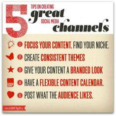 5 consejos rápidos para crear contenidos en Canales de Social Media via Social@Ogilvy