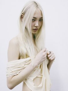 jonathanwaiter: SooJoo Park stops by for some quick snaps. SooJoo is represented by Wilhelmina New York. Photography by Jonathan Waiter.