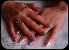 tartofraise nail art | Flickr - Silver with accents