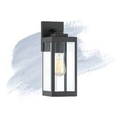 New Kaylie Earth Black 1 - Bulb Outdoor Wall Lantern by Foundstone Lighting Home Decor Furniture. offers on top store Outdoor Hanging Lanterns, Outdoor Barn Lighting, Outdoor Ceiling Fans, Outdoor Sconces, Outdoor Wall Lantern, Outdoor Walls, Exterior Lighting, Wooden Storage Sheds, Storage Shed Kits