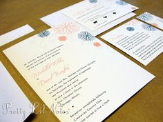 Fresh and Fancy Wedding Invitation Set Spring by PrEttYLiLNoTeS