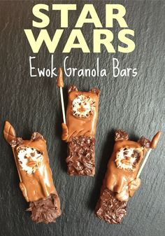 Get your Star Wars mania on with these hilarious Ewok Granola Bars (made with store-bought bars!) | Totally the Bomb