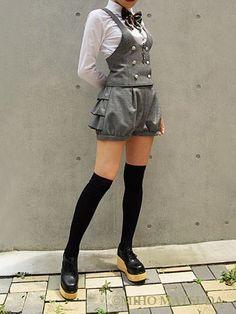 Kodona Japanese Street Style Harajuku Mode – Schüler – Street Fashion - New Sites Harajuku Mode, Harajuku Fashion, Kawaii Fashion, Cute Fashion, Fashion Outfits, Fashion Clothes, Style Fashion, Rock Fashion, Harajuku Girls
